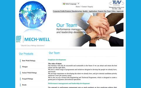 Screenshot of Team Page mechwellfittings.com - Our Team : Stainless steel pipe, Stainless steel pipe fittings, Steel flanges stainless, Forged fittings, Forged flanges - captured Oct. 27, 2014
