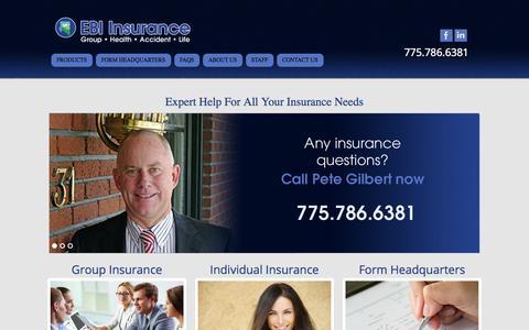 Screenshot of Home Page ebi-nv.com - EBI | Just another WordPress site - captured Oct. 2, 2014