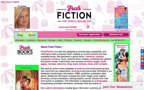 Screenshot of About Page freshfiction.com - Frequently Asked and Responses - captured Aug. 18, 2016