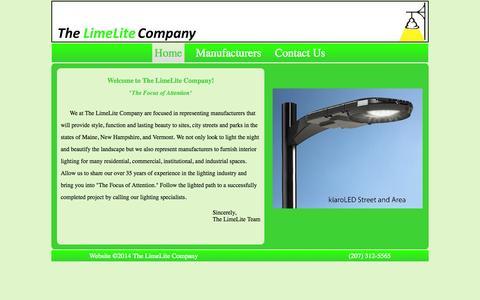 Screenshot of Home Page thelimelitecompany.com - The LimeLite Company - captured Sept. 26, 2014