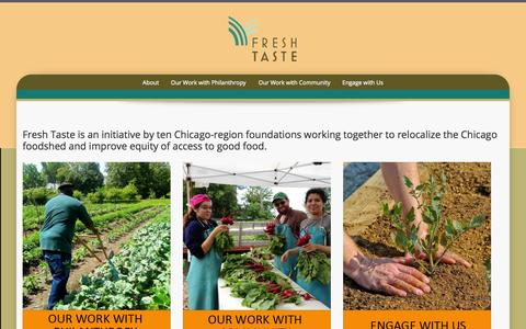 Screenshot of Contact Page freshtaste.org - Fresh Taste | Supporting diverse local agriculture and access to food that is healthy, green, fair and affordable in the Chicago region. - captured Oct. 25, 2014