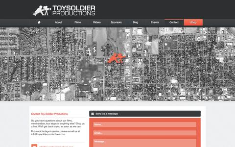 Screenshot of Contact Page toysoldierproductions.com - Contact | Toy Soldier Productions - captured Oct. 7, 2014