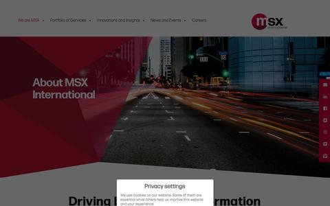 Screenshot of About Page msxi.com - We are msxi - MSXI - captured Nov. 8, 2019