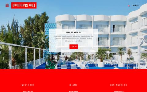Screenshot of Signup Page standardhotels.com - Boutique Hotels in Los Angeles – NYC – Miami | The Standard Hotels - captured Dec. 4, 2016