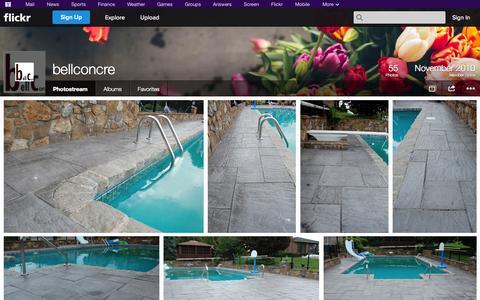 Screenshot of Flickr Page flickr.com - Flickr: bellconcre's Photostream - captured Oct. 23, 2014