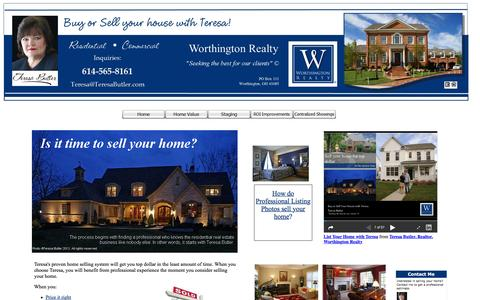 Screenshot of Products Page teresabutler.com - Selling a Home - captured Feb. 4, 2016