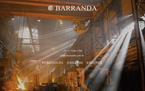 Screenshot of Home Page barranda.com.br - Barranda - captured Feb. 7, 2016