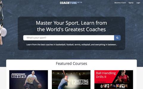 Screenshot of Home Page coachtube.com - CoachTube | Coachtube - captured Jan. 26, 2015