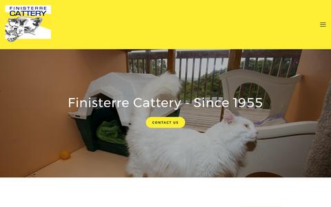 Screenshot of About Page finisterre.co.nz - About — Finisterre Cattery - captured April 12, 2017