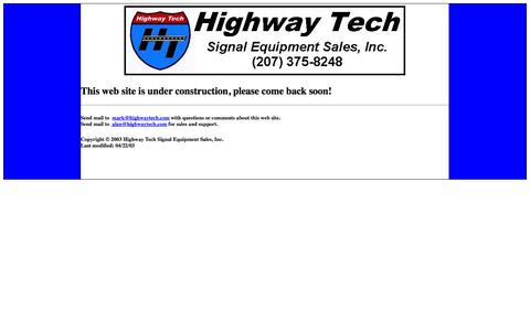 Screenshot of Home Page highwaytech.com - Home - captured Sept. 30, 2014
