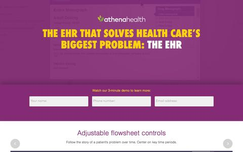 Screenshot of Landing Page athenahealth.com - Cloud-Based EHR and Practice Management Services | athenahealth - captured Oct. 27, 2015
