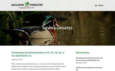 Screenshot of Press Page millikenforestry.com - News & Updates - Milliken Forestry - captured Nov. 3, 2017