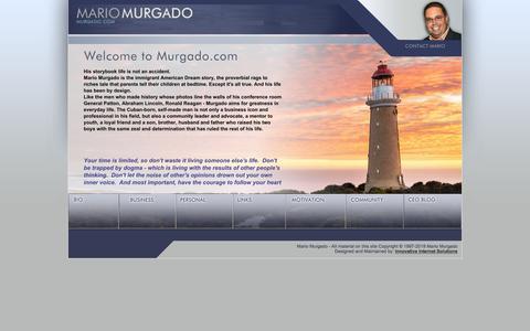 Screenshot of Home Page murgado.com - Welcome To MarioMurgado.com - Mario Murgado's Personal Website - captured July 6, 2018