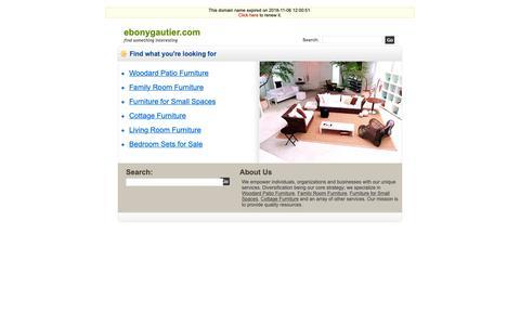 Screenshot of Home Page ebonygautier.com - Ebonygautier.com - captured Dec. 7, 2018