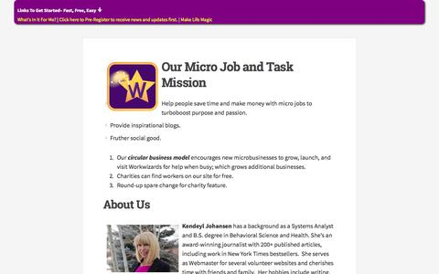 Screenshot of About Page workwizards.com - Our Micro Job and Task Mission | WorkWizards - captured Nov. 5, 2014
