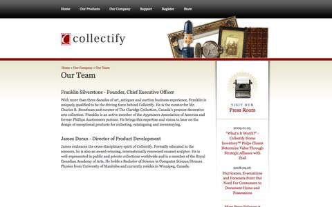 Screenshot of Team Page collectify.com - Collectify || Our Company || Team - captured Oct. 8, 2014