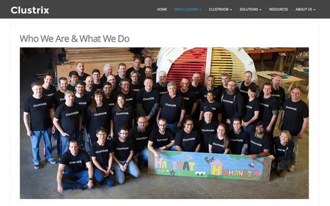 Who We Are & What We Do -