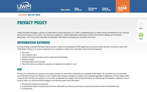 Privacy Policy | United Wholesale Mortgage