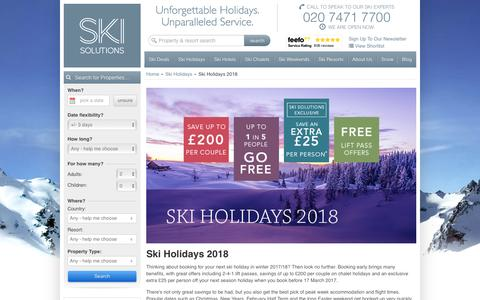 Ski Holidays 2018 | Ski Solutions