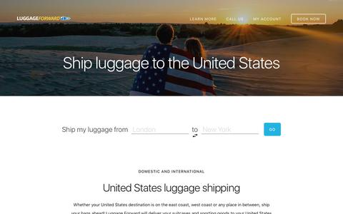 Shipping Luggage to the United States - Guaranteed by Luggage Forward