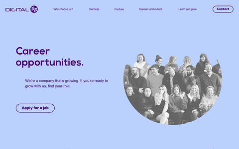 Screenshot of Jobs Page digital22.com - Digital Marketing Careers at Digital 22 in Lancashire - captured June 25, 2019