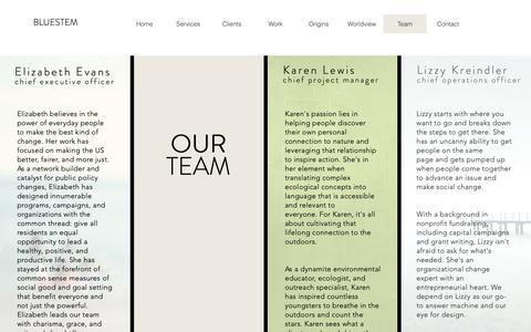 Screenshot of Team Page bluestem.org - Bluestem | Team - captured Nov. 3, 2018
