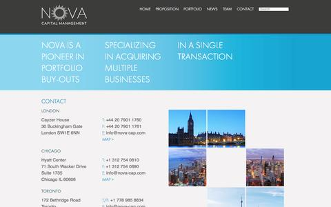 Screenshot of Contact Page nova-cap.com - Contact – NOVA – Capital Management - captured Oct. 7, 2014