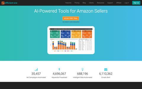 Screenshot of Home Page efficientera.com - Efficient Era - captured Sept. 27, 2018