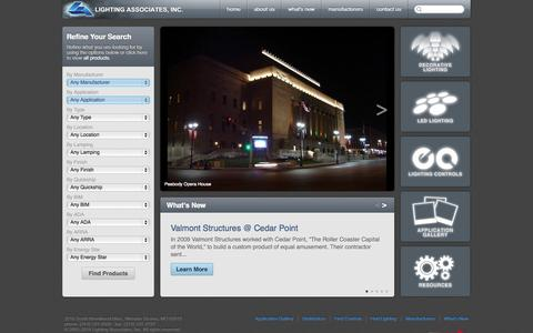 Screenshot of Home Page laiweb.net - Lighting Associates is the foremost lighting expert in Missouri and southern Illinois area. - captured Oct. 2, 2014