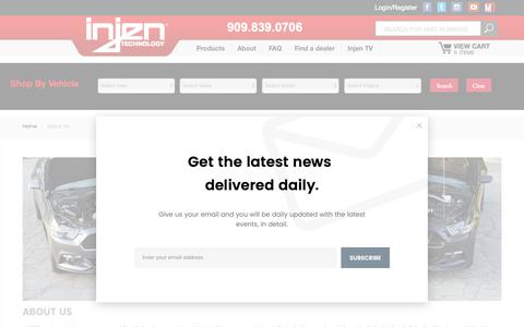 Screenshot of About Page injen.com - About Us - captured Sept. 27, 2018