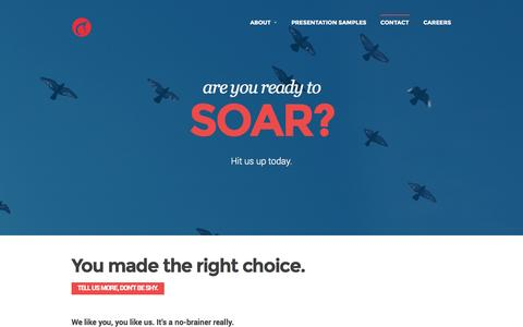 Screenshot of Contact Page slidecomet.com - You made the right choice. - SlideComet | SlideComet - captured Nov. 4, 2014