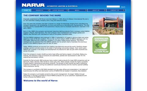Screenshot of About Page narva.com.au - About Us - Narva - captured Oct. 5, 2014