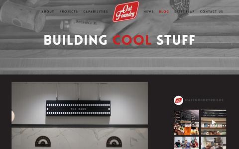 Screenshot of Blog oatfoundry.com - The Oat Foundry Cool Stuff Blog | We Build Cool Stuff - captured Oct. 20, 2018