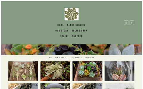 Screenshot of Products Page ojaiplantworks.com - online shop — Ojai Plant Works - captured Oct. 19, 2018