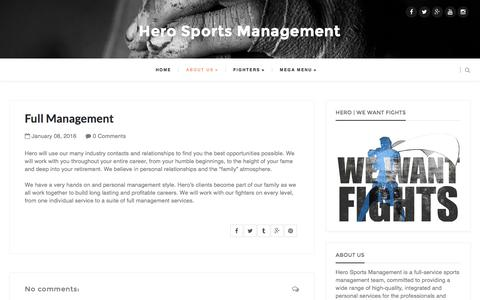 Screenshot of Team Page wewantfights.com - Full Management - captured Jan. 29, 2016