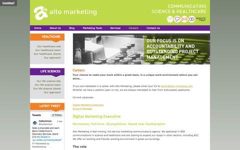 Screenshot of Jobs Page alto-marketing.com - Alto Marketing - Careers   Alto Marketing - captured Sept. 30, 2014