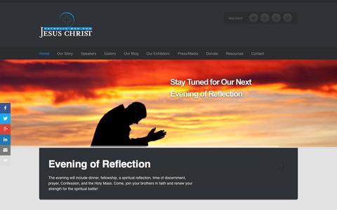 Screenshot of Home Page catholicmenforjesuschrist.org - Catholic Men For Jesus Christ   Real Catholic Men - captured July 19, 2015