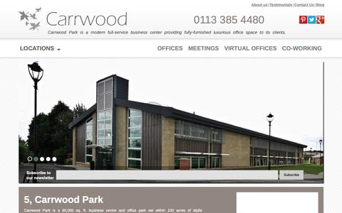 Screenshot of Locations Page carrwoodpark.com - 5 Carrwood Park | Carrwood Park - captured Sept. 27, 2018