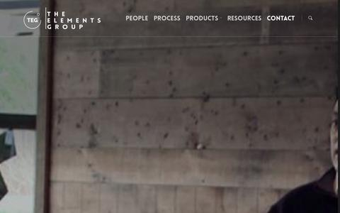 Screenshot of Contact Page elementsgroup.us - Contact TEG    The Elements Group - captured Oct. 26, 2014