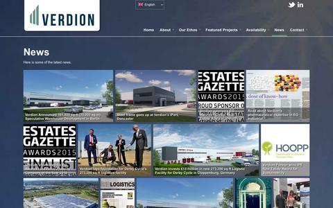 Screenshot of Press Page verdion.com - News - Verdion - captured Jan. 10, 2016
