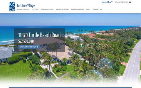 Screenshot of Home Page k2-realty.com - Home Sales and Real Estate in Lost Tree Village :: North Palm Beach Real Estate :: K2 Realty, Inc. - Lost Tree Village Office - captured June 8, 2017