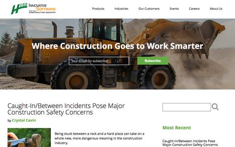 Screenshot of Blog hcss.com - Construction Software & Technology Blog | HCSS - captured July 15, 2015