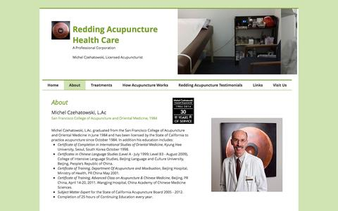 Screenshot of About Page acuphealthcare.net - About Redding Acupuncture Health Care - captured Nov. 29, 2016