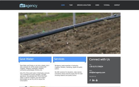 Screenshot of Home Page wt-agency.com - Wt Agency - captured June 18, 2017