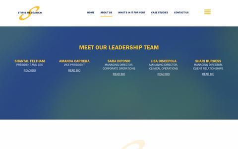 Screenshot of About Page stirisresearch.com - Stiris Research - Leadership Team - Stiris Research - captured Dec. 2, 2016