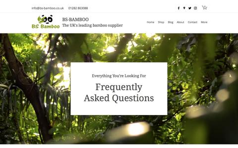 Screenshot of FAQ Page bs-bamboo.co.uk - FAQ | BS-Bamboo - captured March 2, 2017