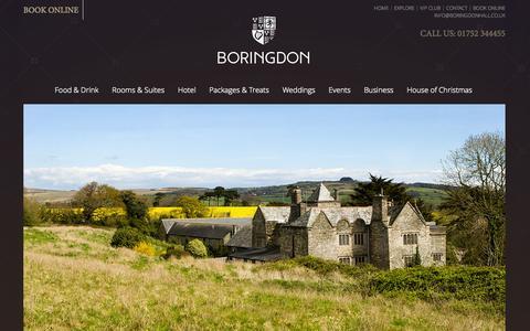 Screenshot of Maps & Directions Page boringdonhall.co.uk - Hotels near Plymouth South Devon | Boringdon - captured Oct. 5, 2014