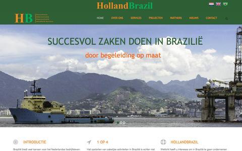 Screenshot of Home Page hollandbrazil.com - Holland Brazil - Met een gerust hart ondernemen in Brazilie - captured Jan. 30, 2016