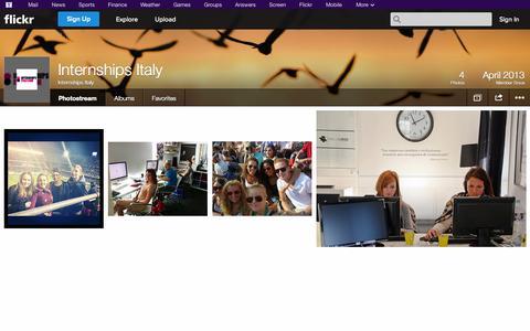 Screenshot of Flickr Page flickr.com - Flickr: Internships Italy's Photostream - captured Oct. 26, 2014