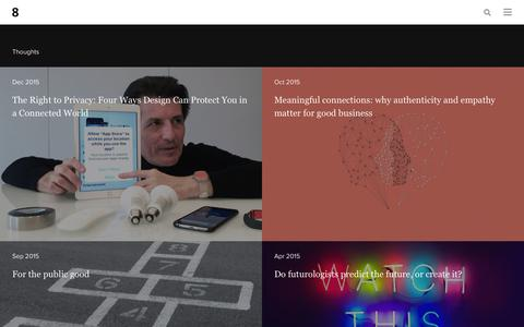 Screenshot of Press Page eightinc.com - Experience Design Insights - Eight Inc. - captured Dec. 8, 2015